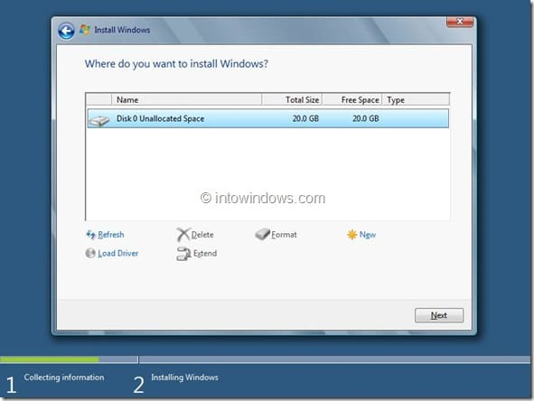 Windows 8 Installation Procedure Step7