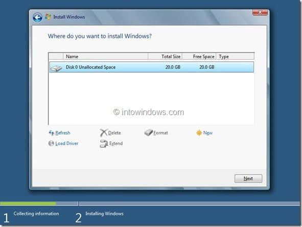 Windows 8 Installation Procedure Step7