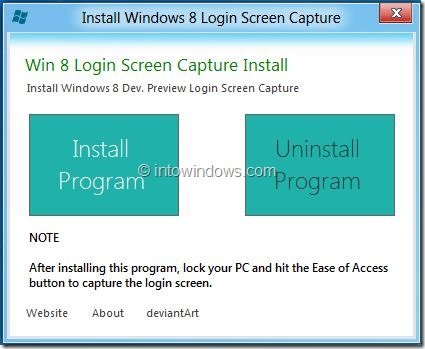Windows 8 Logon Screen Snpshot Taker
