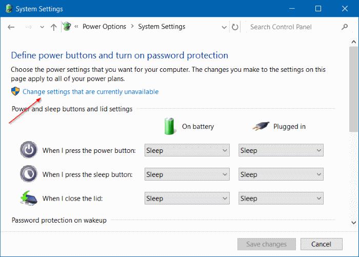 enable hibernation in windows 10 step 5
