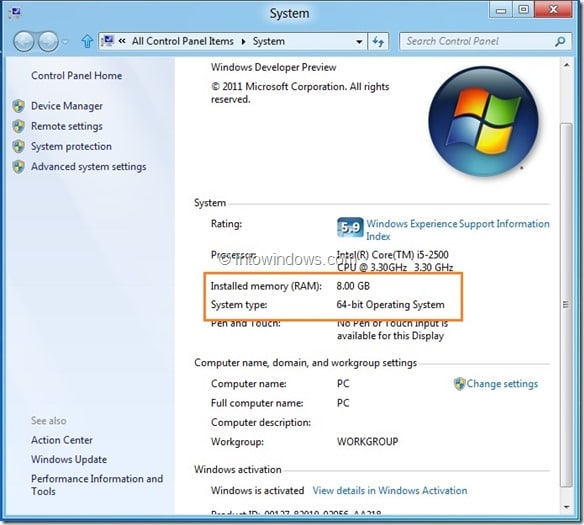 Check If Your PC Supports Windows 8 Hyper-V Step1