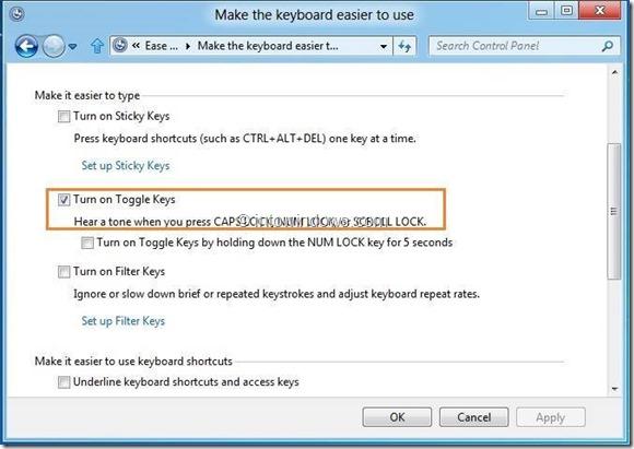 Enable Alert Tone For Caps Lock, Scroll, And Num Lock keys Step5