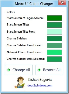 Metro UI Color Changer for Windows 8