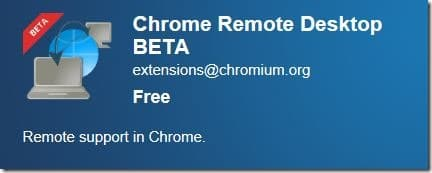 Remote Desktop in Google Chrome Browser