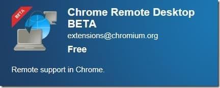 Remote Desktop in Google Chrome Browser