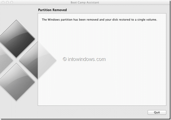 Remove Windows 8 Boot Camp Partition Step5