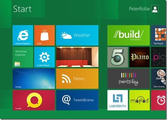Windows 8 Start Screen for XP
