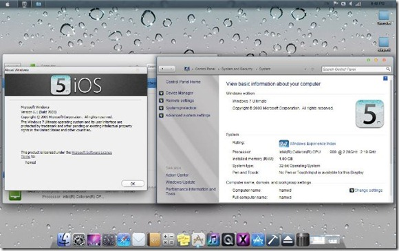 iOS Tranformatoin Pack For Windows 7
