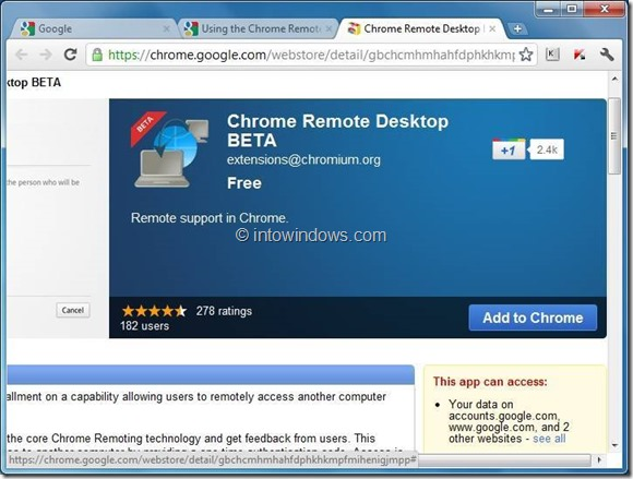 use chrome remote desktop step1
