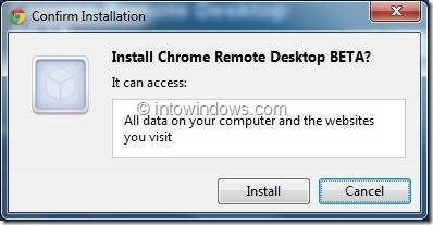 use chrome remote desktop step2