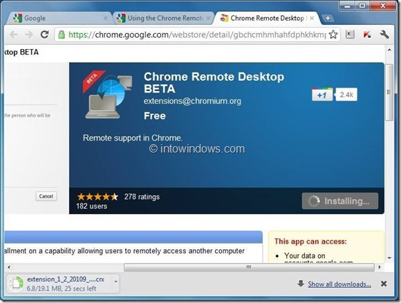 use chrome remote desktop step3