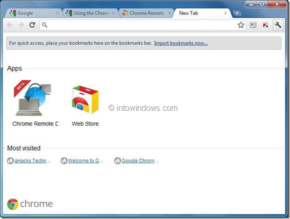 use chrome remote desktop step4