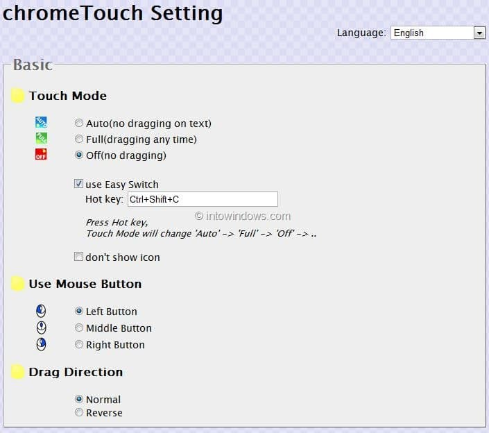 add multi touch support to Google Chrome