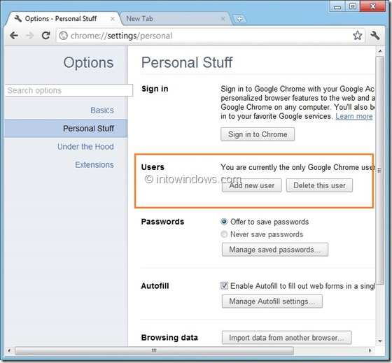 Create Multiple User Profile In Google Chrome Step3
