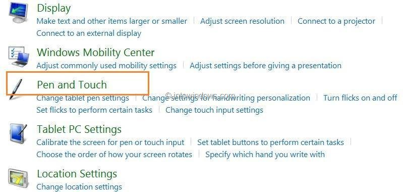 How to turn touch screen off windows 10