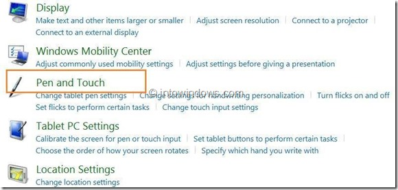 Enable or Disable Touch Screen In Windows 8 Step6