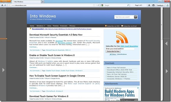 Firefox For Touch Screen