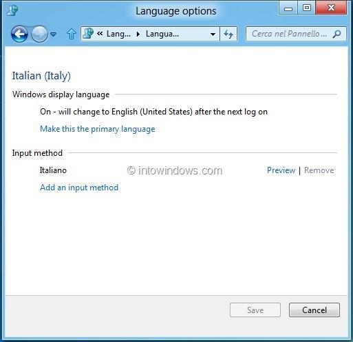 Download & Install Language Packs In Windows 8 DP