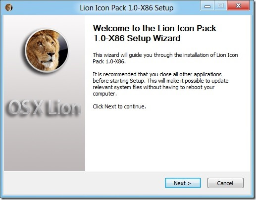 Mac OS X Lion Icon Pack for Windows 8 Developer Preview