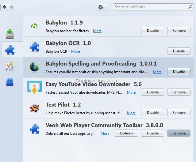 How to remove the Babylon toolbar, home page and search ...