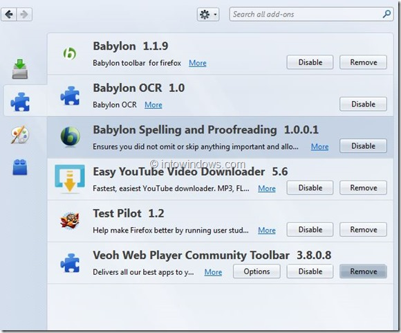 Remove Babylon Search From Internet Explorer and Firefox Step5