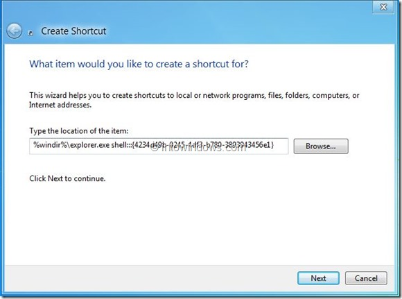 Create Metro Apps Shortcut On Desktop In Windows 8 Step2