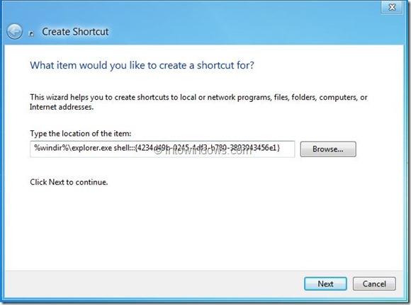 Create Metro Apps Shortcut On Desktop In Windows 8 Step2