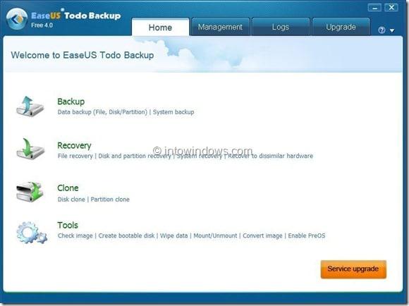EaseUS Todo Backup Free Picture