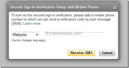 Enable Yahoo Two Step Verification