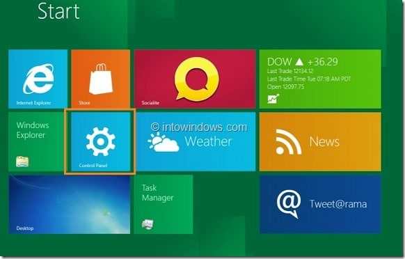 Enable or Disable Right Click In Windows 8 Tablet