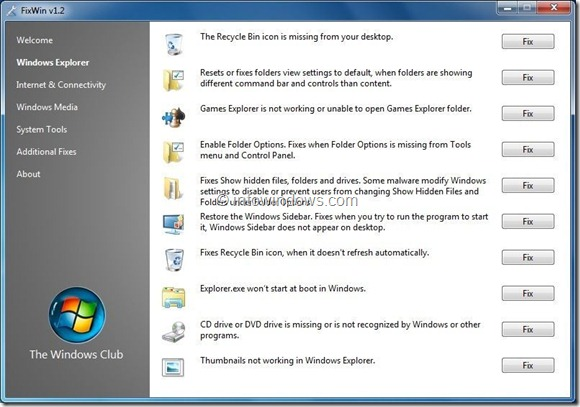 Free Tools To Repair Windows Step3
