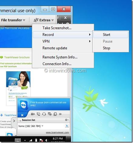 Record Session In TeamViewer Picture2