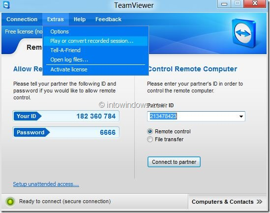 Record Session In TeamViewer Picture4