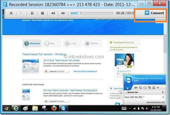 Record Session In TeamViewer Picture5