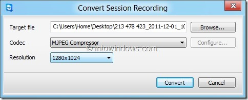 Record Session In TeamViewer Picture6