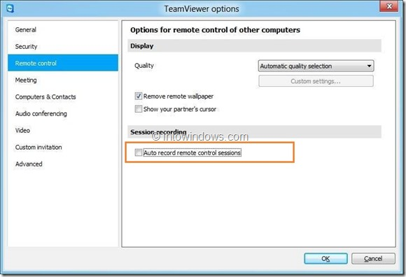Record Session In TeamViewer Picture7