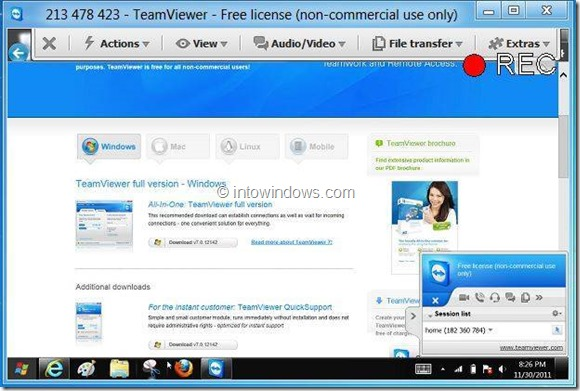 Record Session In TeamViewer