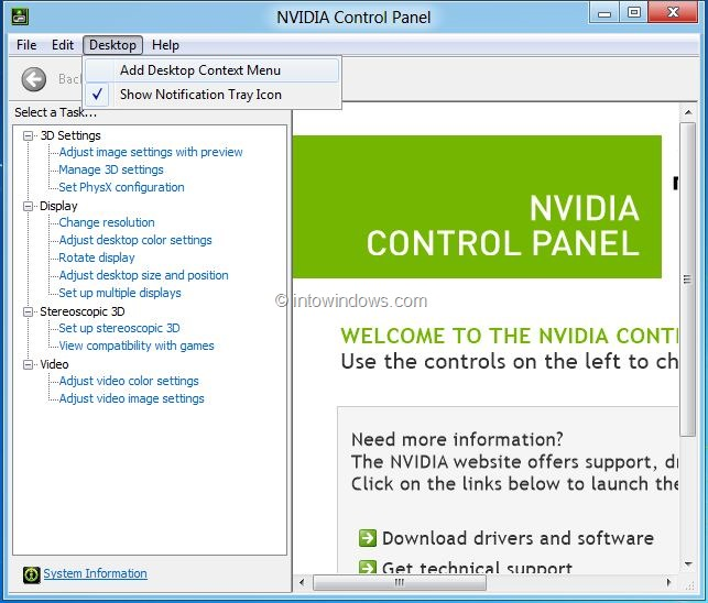 remove nvidia control panel entry from right click menu step11