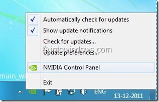 Remove NVIDIA Control Panel Entry From Right Click Menu step 2