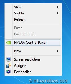 remove nvidia control panel entry from right click menu1