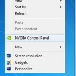 Remove NVIDIA Control Panel Entry From Desktop Right Click Menu