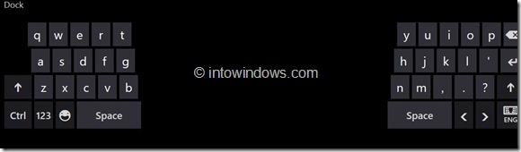 Split Keyboard Windows 8