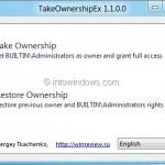 TakeOwnershipEx: Free Tool To Take Ownership Of Windows Files