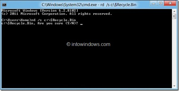 Delete Files From Recycle Bin All User Accounts