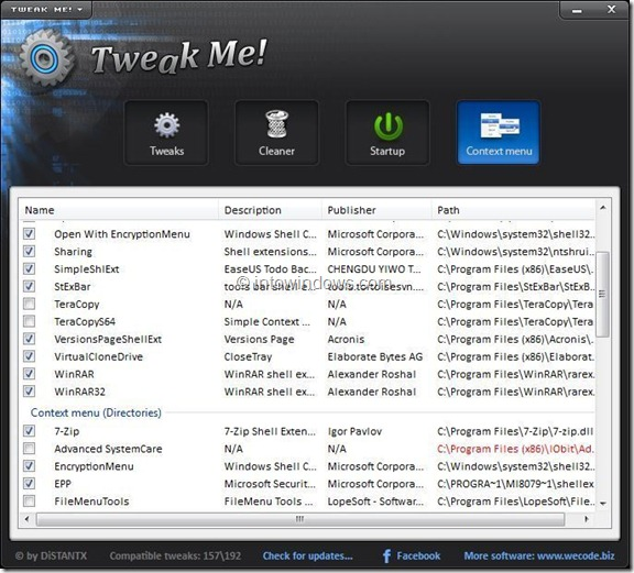Download Tweak Me for Windows 8