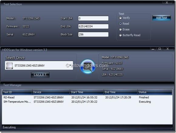 HDDScan for Windows