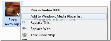 Remove Windows Media Player Entries From Context Menu Step1