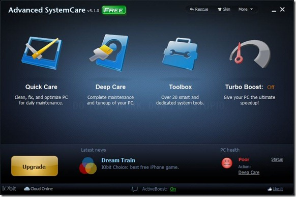 Advanced System Care Free for Windows 8