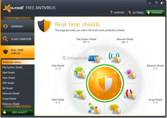 Avast Free Antivirus for Windows 8 Picture