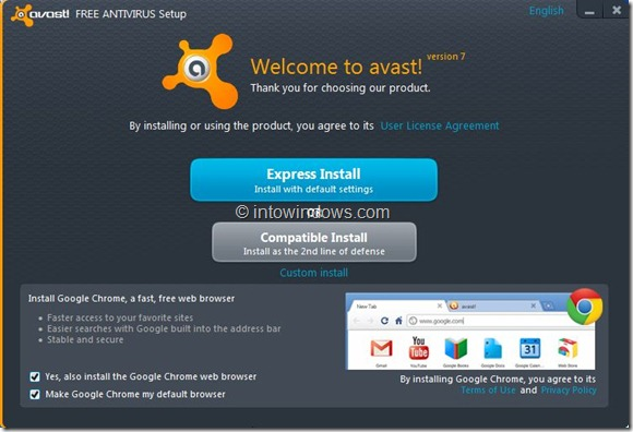 Avast Free Antivirus for Windows 8